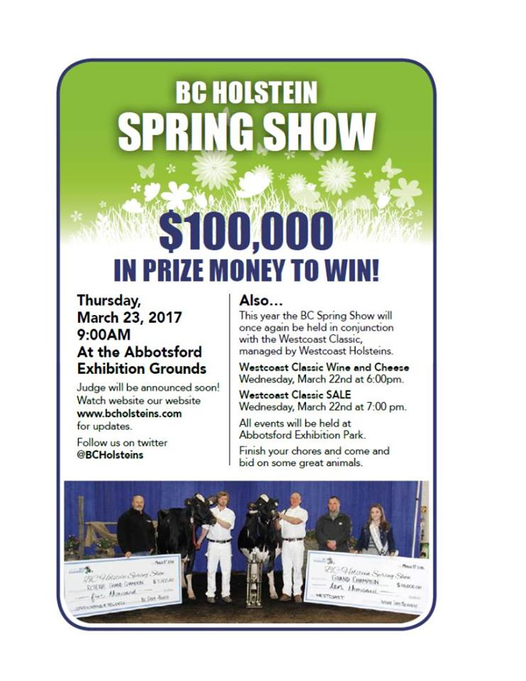BC Springshow $100,000 in prizes to win.